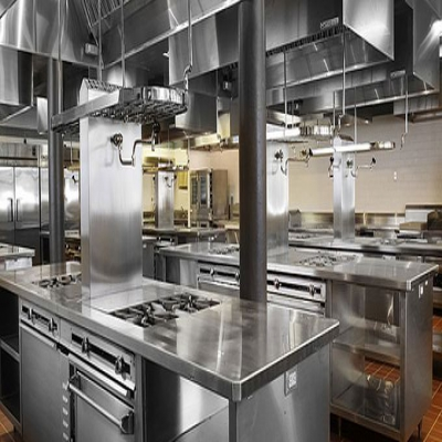 What aspects should be considered in hotel kitchen design